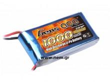 Gens ace 1000mAh 7.4V 25C 2S1P Lipo Battery Pack