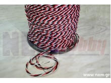 Silicone cables 22AWG Triple Twisted x1mtr. -Black/Red/White