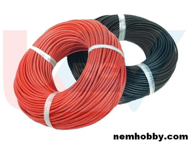 Silicone cable 8AWG x1mtr. -Red