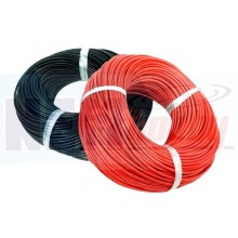 Silicone cable 10AWG x1mtr. -Black