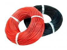 Silicone cable 18AWG x1mtr. -Red