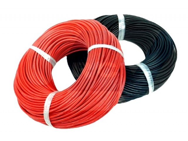 Silicone cable 16AWG x1mtr. -Red