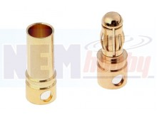 Connector Gold 3.5mm -Pair