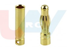 Connector Gold 4.0mm -Pair