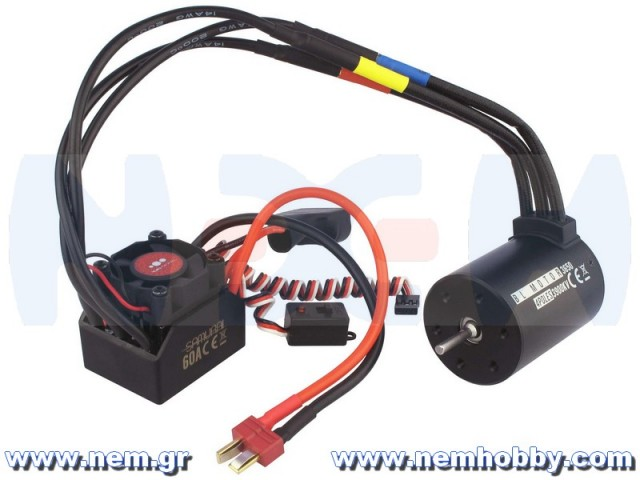 Power combo 1/10 rc-car ESC 60A w/ Motor 4-Poles 3650-3900KV waterproof