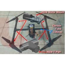 CNC Aluminium Motor Mount 25mm Diameter Fits Motor up to 65mm