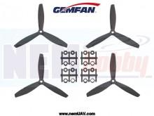 3Blade 6040 Gemfan ABS Propellers 2Pair/4pcs -Black