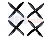 4Blades Gemfan 5040, PC Unbreakable 2Pair/4pcs -Black