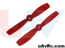 Bullnose 6x4 Propeller set CW/CCW -red