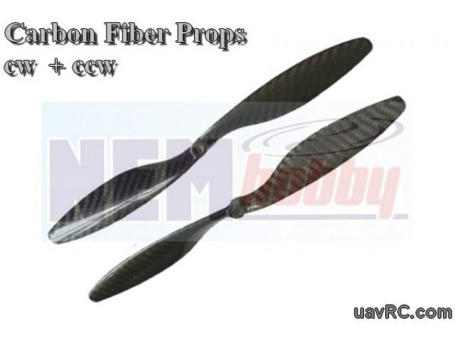 Carbon Fiber 8x4.5 CW+CCW -Set