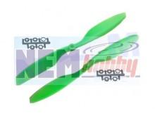 "Slow-Fly 12x4.5"" Props set CW+CCW -Green/Orange"